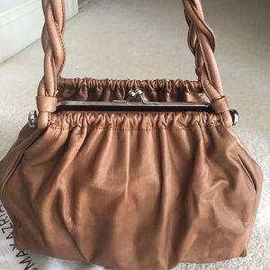 BCBGMAXAZRIA Tan Leather Shoulder bag